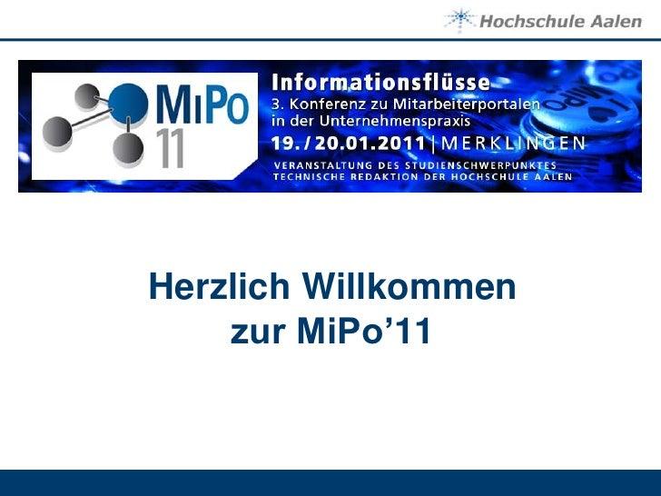 Herzlich Willkommen zur MiPo'11<br />