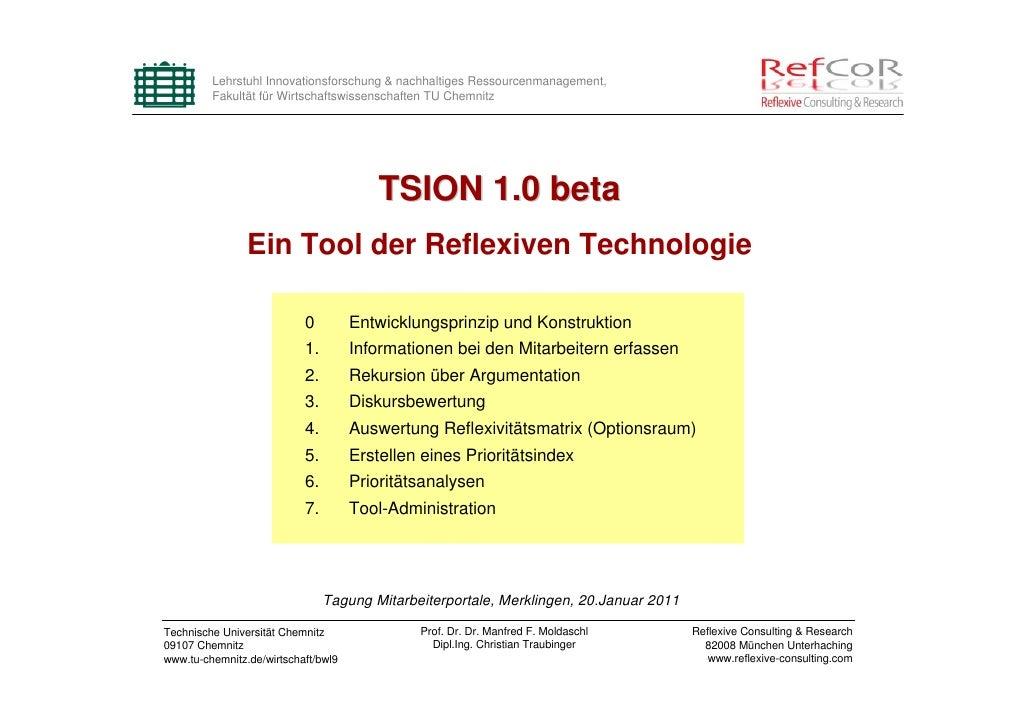 Lehrstuhl Innovationsforschung & nachhaltiges Ressourcenmanagement,         Fakultät für Wirtschaftswissenschaften TU Chem...