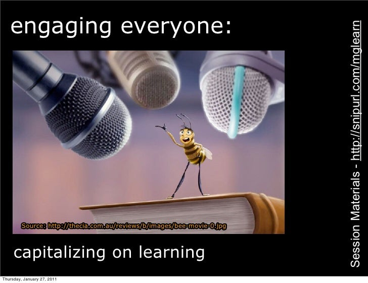 engaging everyone:                                                                         Session Materials - http://snip...
