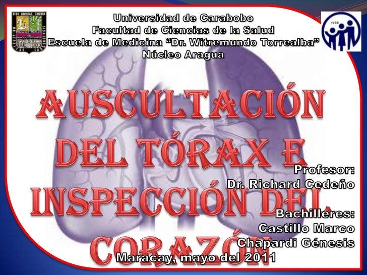 """Universidad de Carabobo<br />Facultad de Ciencias de la Salud<br />Escuela de Medicina """"Dr. Witremundo Torrealba""""<br />Núc..."""