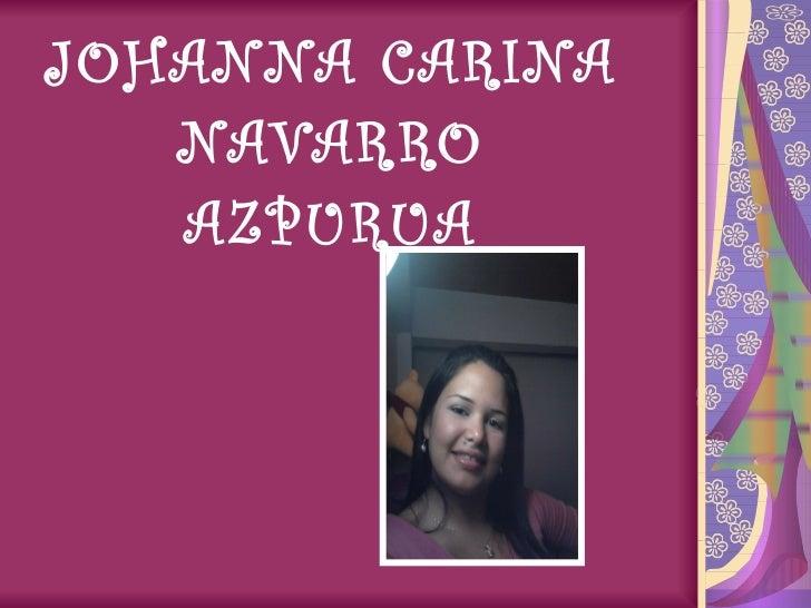 JOHANNA CARINA NAVARRO AZPURUA