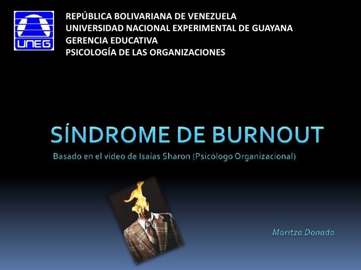 REPÚBLICA BOLIVARIANA DE VENEZUELA<br />UNIVERSIDAD NACIONAL EXPERIMENTAL DE GUAYANA<br />GERENCIA EDUCATIVA<br />PSICOLOG...