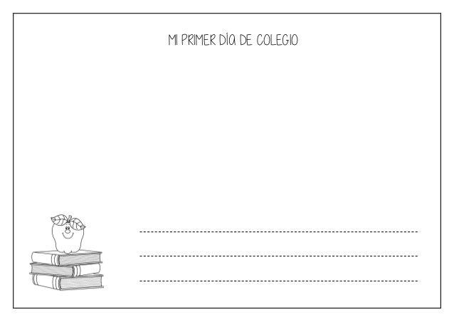 MI PRIMER DÍA DE COLEGIO