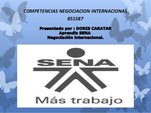 COMPETENCIAS NEGOCIACION INTERNACIONAL  851587