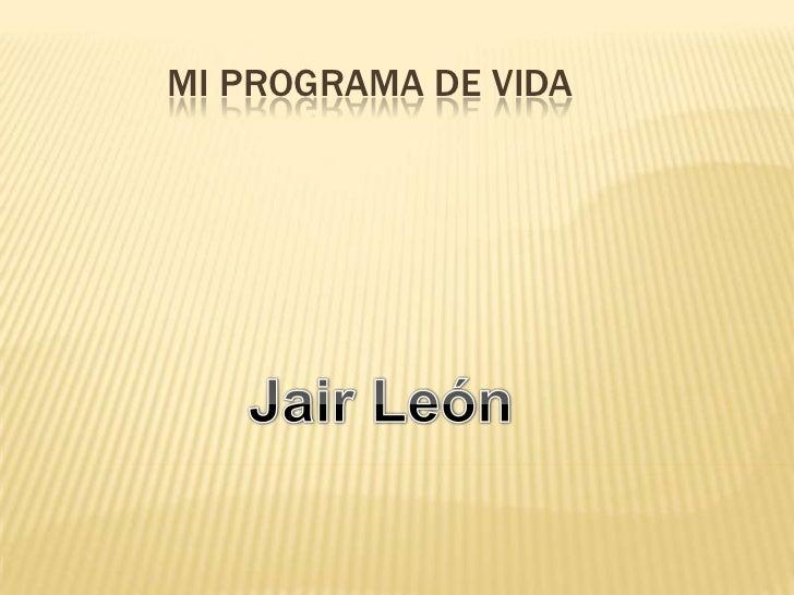 MI PROGRAMA DE VIDA