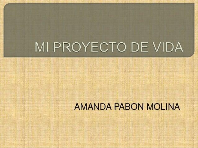 AMANDA PABON MOLINA
