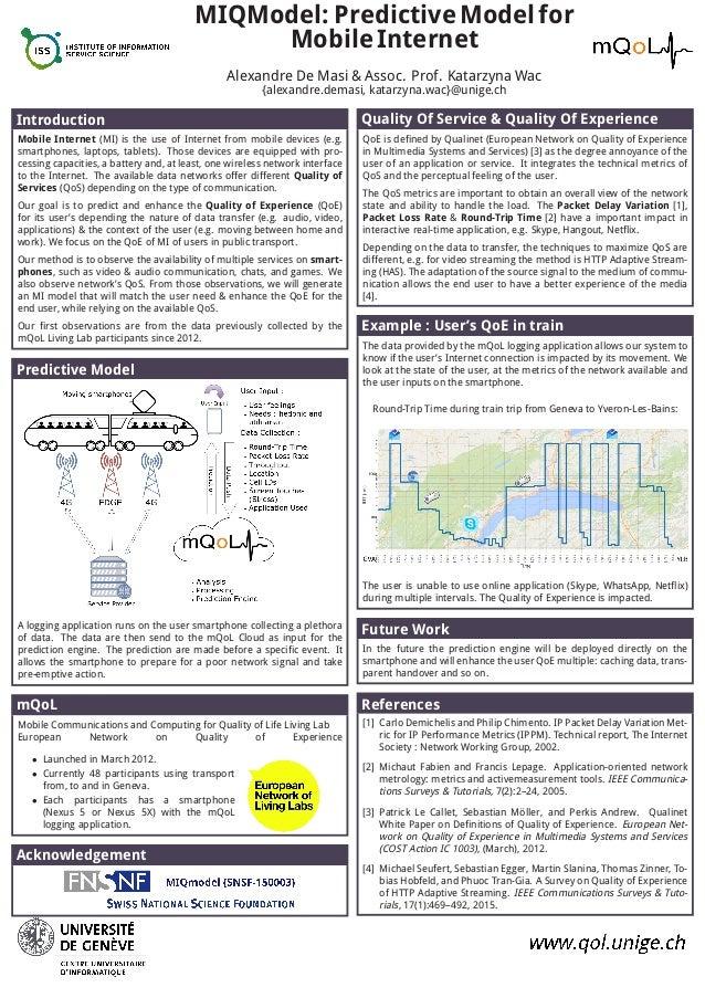 MIQModel: PredictiveModelfor MobileInternet Alexandre De Masi & Assoc. Prof. Katarzyna Wac {alexandre.demasi, katarzyna.wa...
