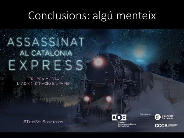 Conclusions: alg� menteix