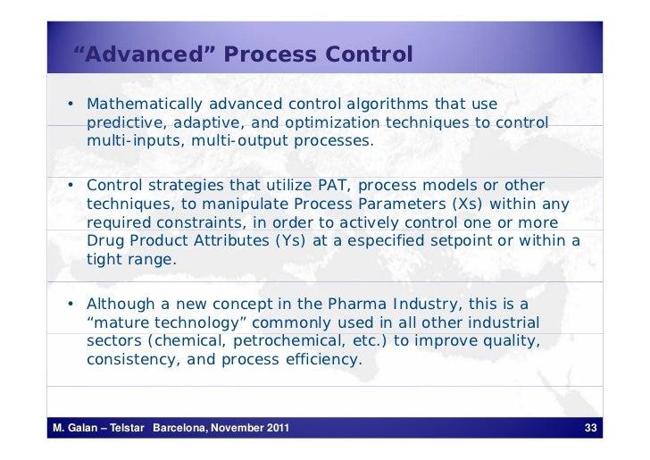 """Advanced"" Process Control  • Mathematically advanced control algorithms that use    predictive, adaptive, and optimizatio..."