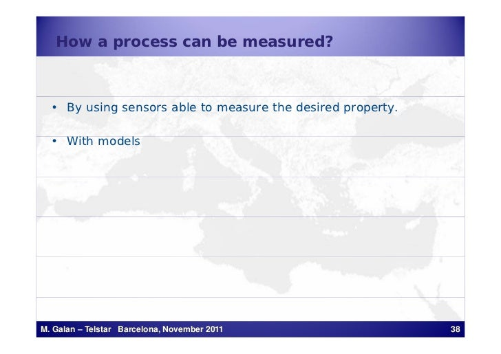 How a process can be measured?  • By using sensors able to measure the desired property.  • With models     ih    d lM. Ga...