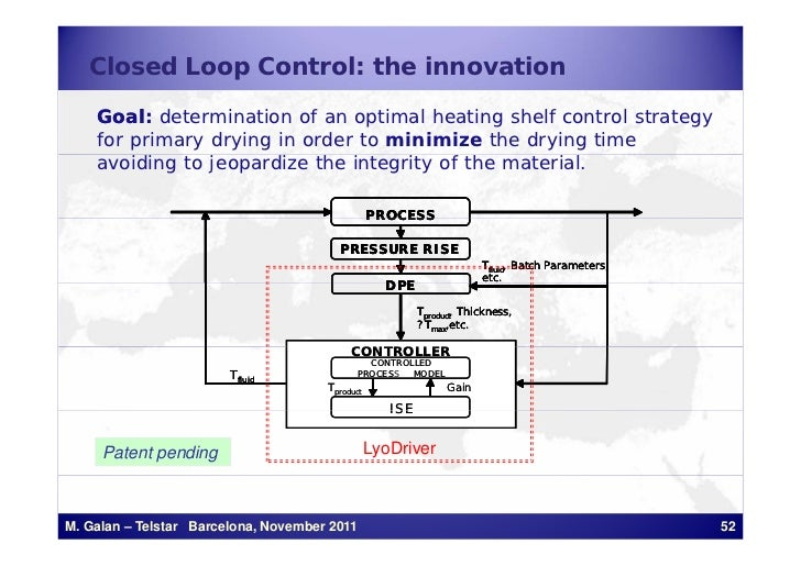Closed Loop Control: the innovation    Goal:    Goal determination of an optimal heating shelf control strategy    for pri...