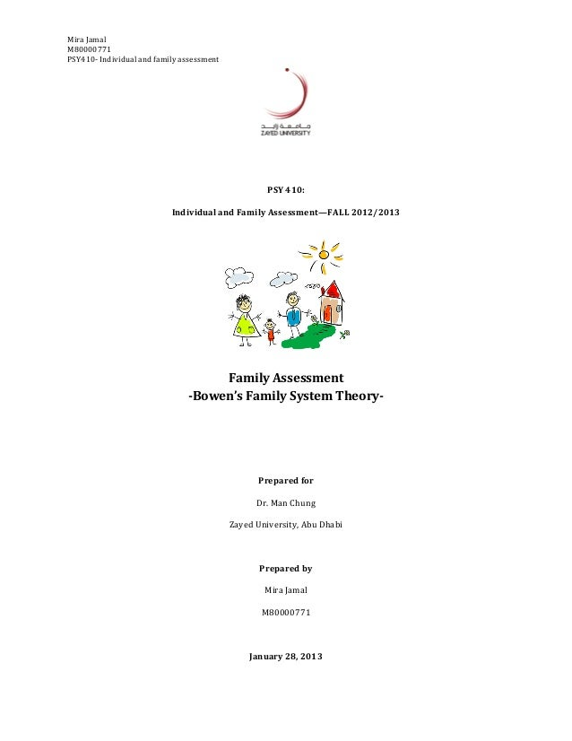 Mira	  Jamal	  	  M80000771	  PSY410-­‐	  Individual	  and	  family	  assessment	  	  	   	   	   	   	  	  	  	  	  	  	 ...