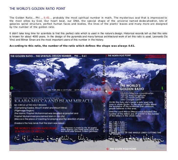 Miracle of kaaba the worlds golden ratio point the golden ratio phi gumiabroncs Choice Image