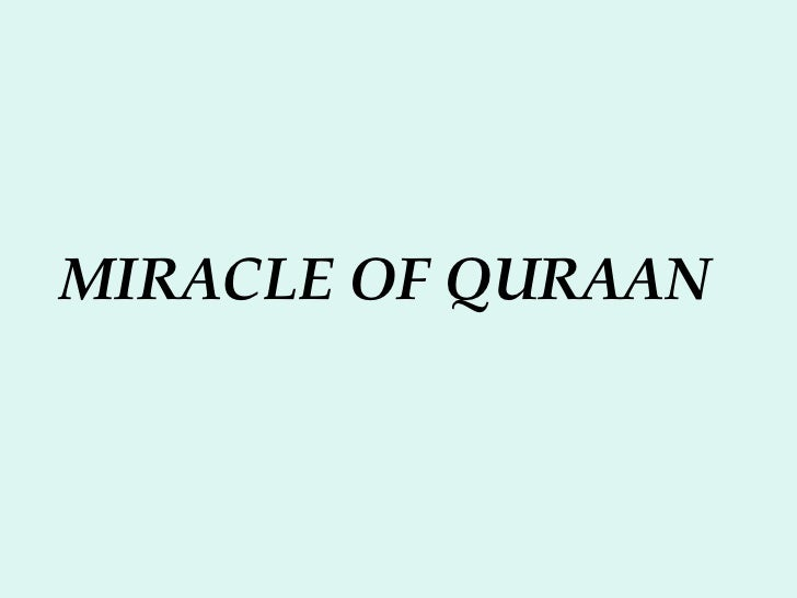 MIRACLE OF QURAAN