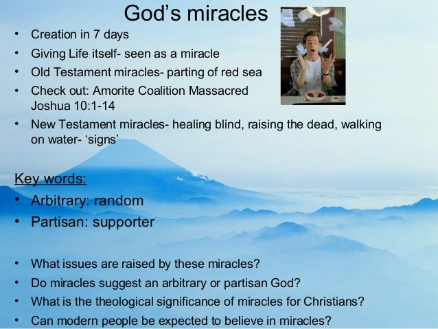 miracles in the new testament Old testament new testament  miracles an important element in the work of  jesus christ, being not only divine acts, but forming also a part of the divine.