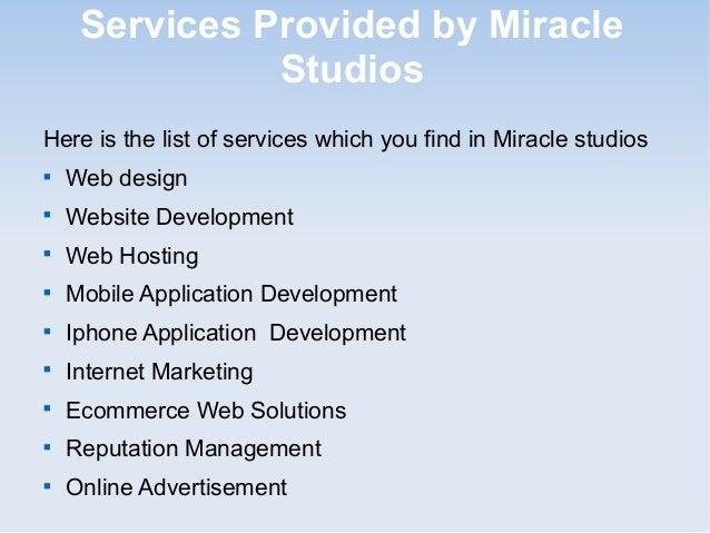 Miracle studios - World No 1 reputed web design company