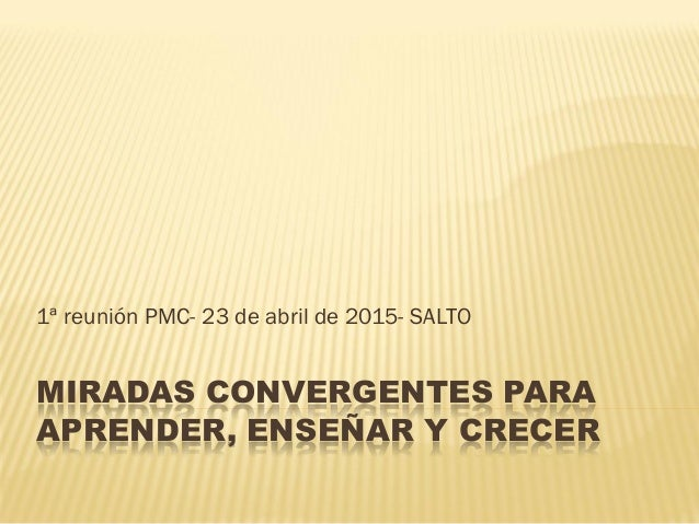 MIRADAS CONVERGENTES PARA APRENDER, ENSEÑAR Y CRECER 1ª reunión PMC- 23 de abril de 2015- SALTO