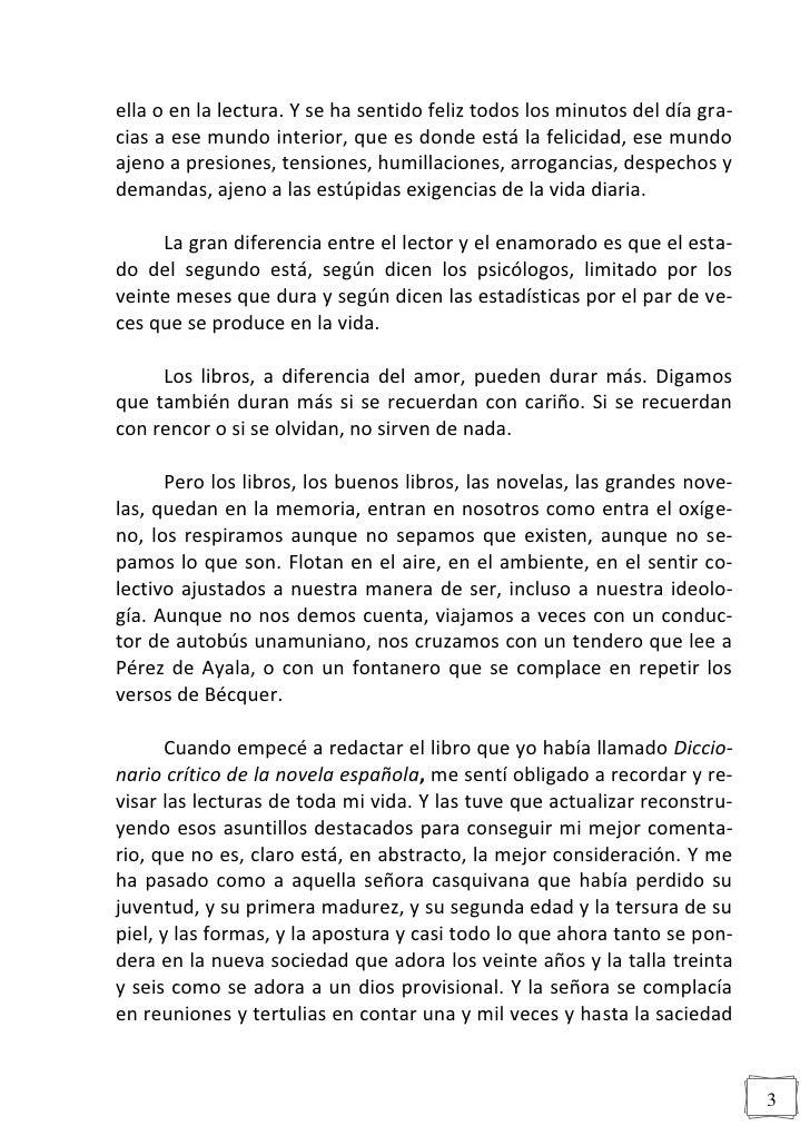 MIRADA SENTIMENTAL A LA NOVELA ESPAÑOLA Slide 3