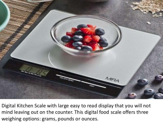 Mira Digital Kitchen Scale Food Large Display Glass Platf\u2026rhslideshare: Large Kitchen Scale At Home Improvement Advice