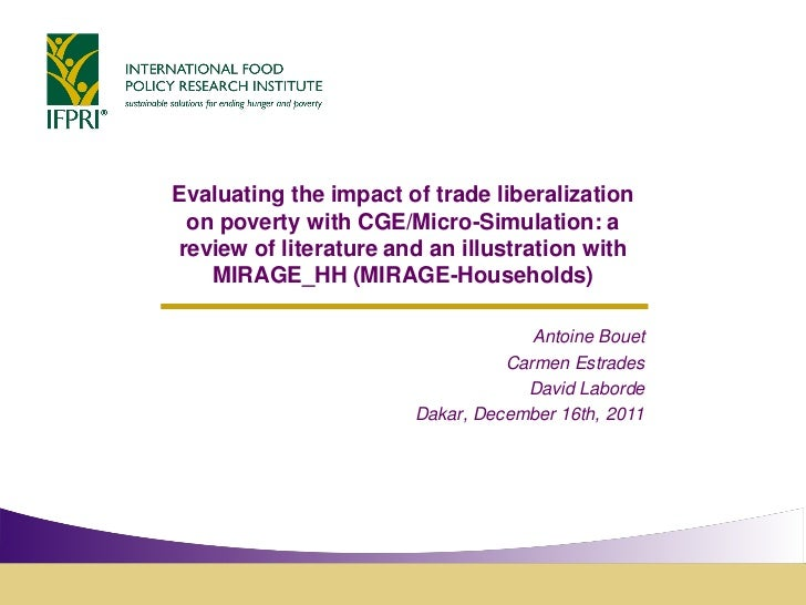 Evaluating the impact of trade liberalization on poverty with CGE/Micro-Simulation: areview of literature and an illustrat...