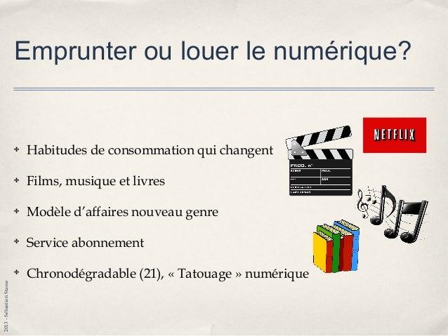 2013-SébastienStasse Emprunter du numérique? ✤ Bibliothèque et Archives nationales du Québec — BAnQ — (60000) ✤ Bibliothè...