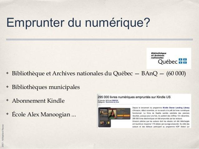 2013-SébastienStasse Livres numériques et l'éducation? ✤ Nouveau format qui nécessite nouvelles stratégies? ✤ Saccades ocu...