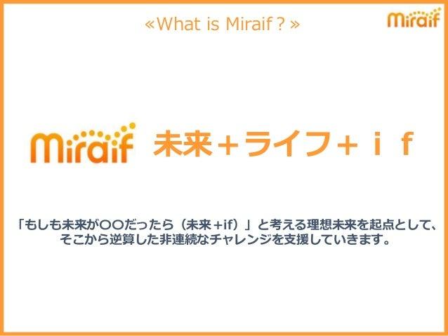 ミライフ会社紹介資料 Slide 3