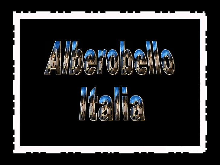 Alberobello Italia