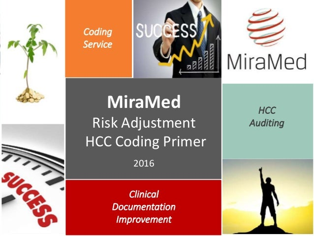 Coding Service MiraMed Risk Adjustment HCC Coding Primer 2016 HCC Auditing Clinical Documentation Improvement