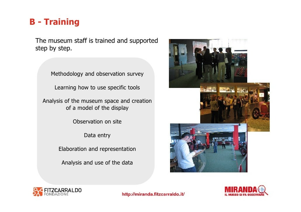 C - Research and support on site                 Sharing the aims with the museum              Creating a model of the mus...