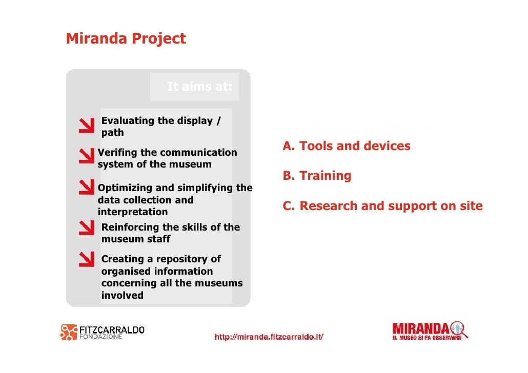 A - Tools and devices The technological infrastructure of Miranda        1- Creation of a model     2- Observation on site...
