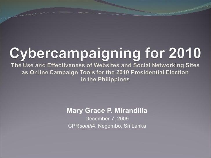 Mary Grace P. Mirandilla December 7, 2009 CPR south 4, Negombo, Sri Lanka