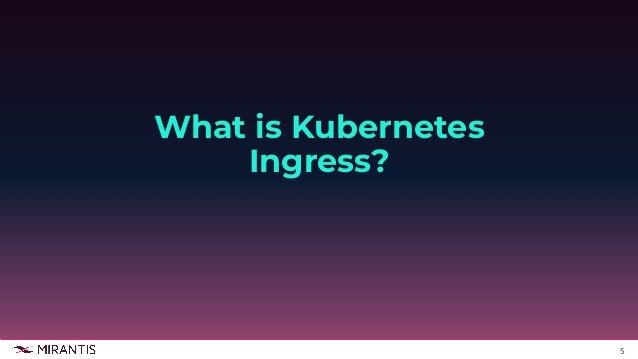 5 What is Kubernetes Ingress?