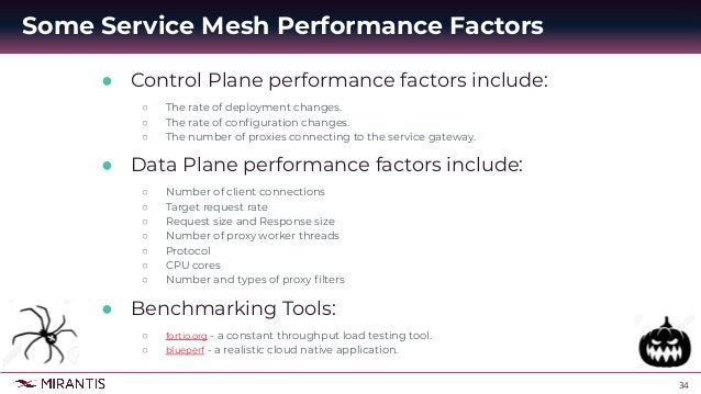 35 ● Load Balancing Throughput and Latency ○ One of the key features of a service mesh is to provide a load balancing capa...