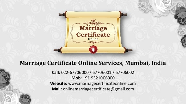 Assistance In Preparation Of Marriage Certificate Online In Mira Roa…