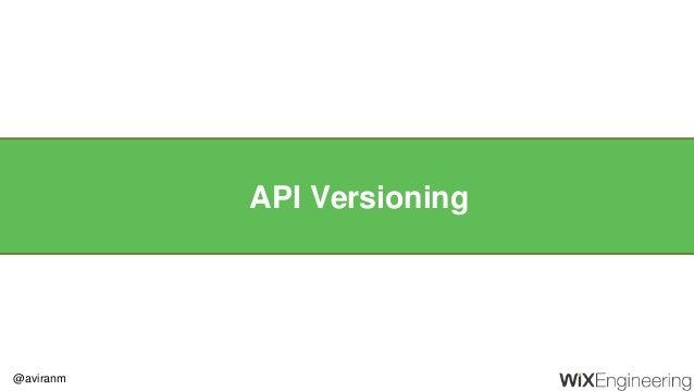 @aviranm API Versioning