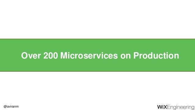@aviranm Over 200 Microservices on Production