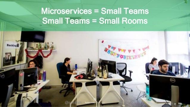 @aviranm Microservices = Small Teams Small Teams = Small Rooms @aviranm