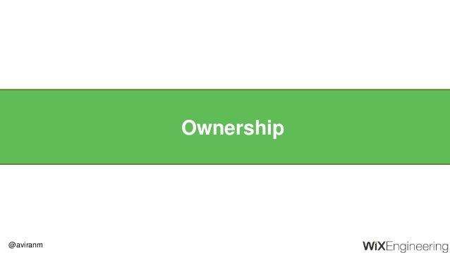 @aviranm Ownership