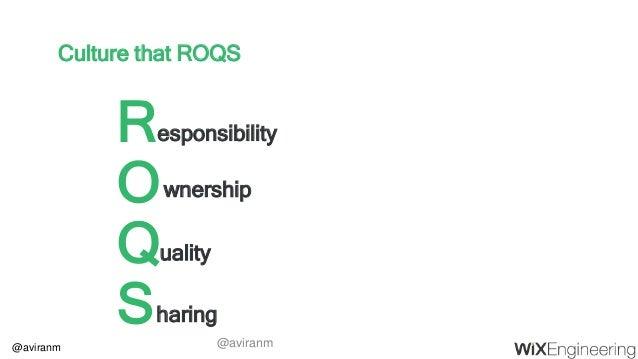 @aviranm Culture that ROQS R O Q S esponsibility wnership uality haring @aviranm
