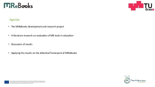 Evaluation Design for Learning with Mixed Reality in Mining Education based on a Literature Review Slide 3
