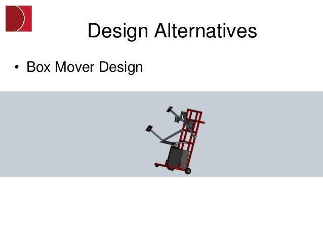 Design Alternatives• Box Mover Design