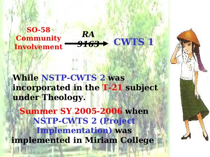 """slu nstp core values The national service training program was also known as """"the national service training program or (nstp) for tertiary level students, it invoked the 5) intellectual 6) social well-being values education, self-awareness, good citizen, and government here are guide questions that will."""