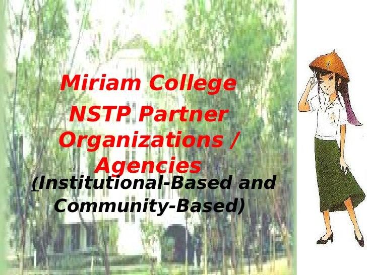 Nstp cwts community outreach program project proposal