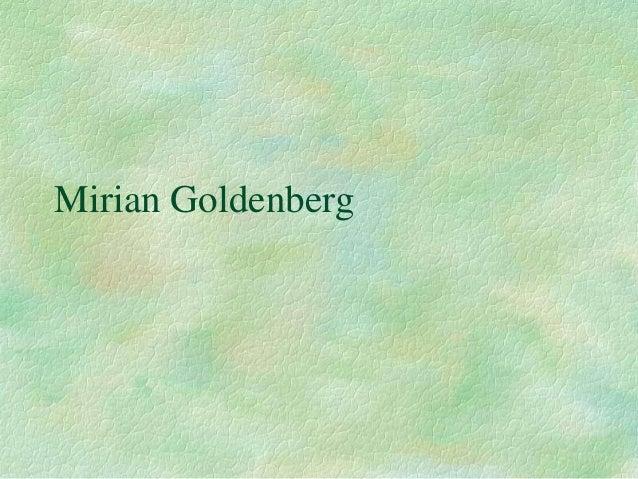 Mirian Goldenberg