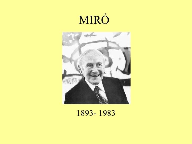 MIRÓ 1893- 1983