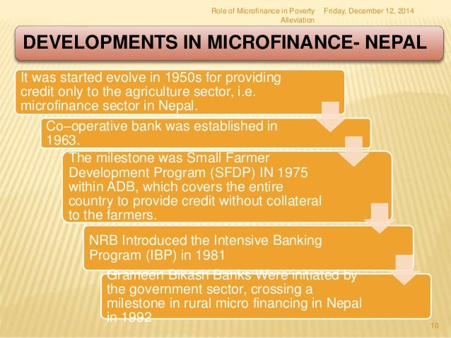 role of microfinance in rural development