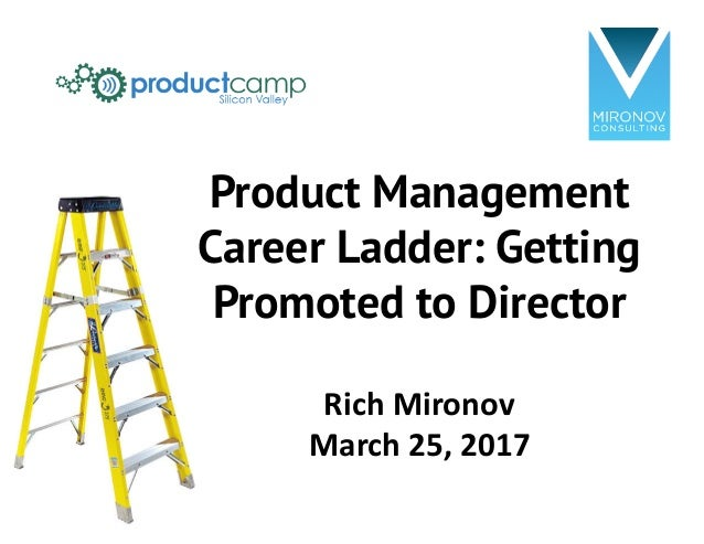 Product Management Career Ladder: Getting Promoted to Director Rich	Mironov March	25,	2017