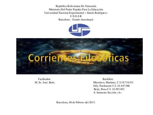 Republica Bolivariana De Venezuela Ministerio Del Poder Popular Para La Educación Universidad Nacional Experimental « Simó...
