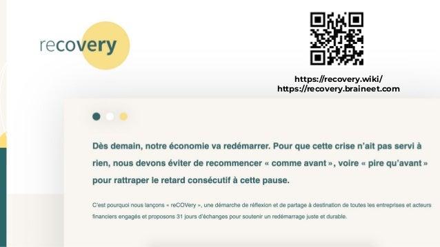 Lancement de ReCOVery - Sortie de crise - Les nouveaux raisonnables Slide 2